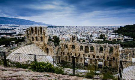 Cidade de Atenas, na Grécia