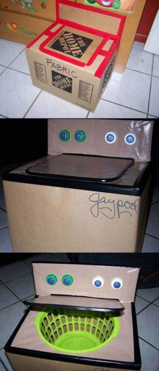 Máquina de lavar criativa (Imagem: Reprodução/Tudo Interessante)