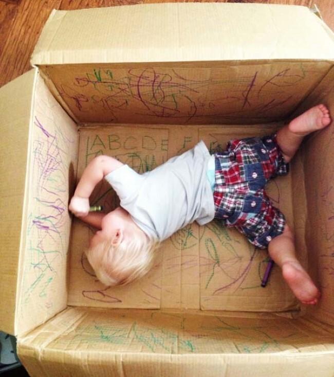 Um lugar para os pequenos desenharem (Imagem: Reprodução/Tudo Interessante)