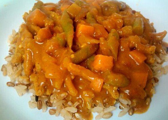 curry com legumes
