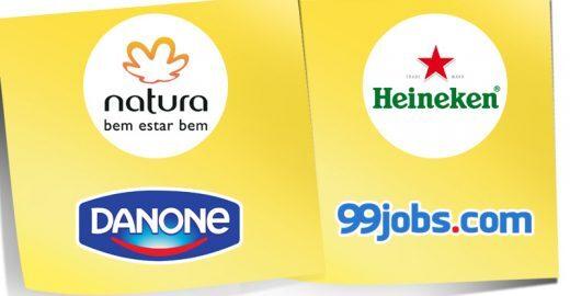 Vagas na Natura, Heineken, Danone, 99jobs e mais!