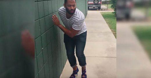O que acontece quando homens usam sapatos de salto alto? Veja vídeo