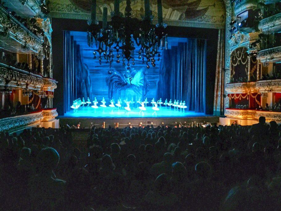 """Ballet """"O Lago dos Cisnes"""" no Teatro Bolshoi, em Moscou"""