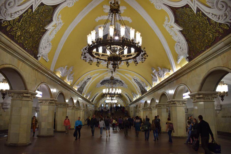 Estação de metrô Komsomolskaya em Moscou