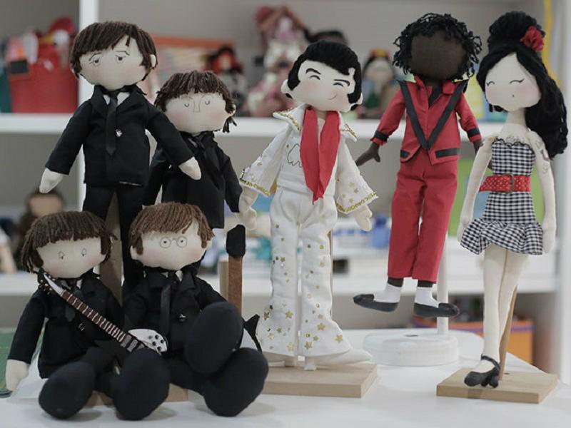 Artesã ensina passo a passo para confeccionar sete personagens diferentes