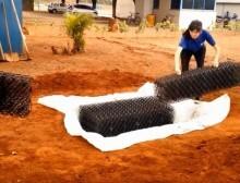 B-RAP é instalado embaixo do terreno para ajudar na retenção e escoamento da água