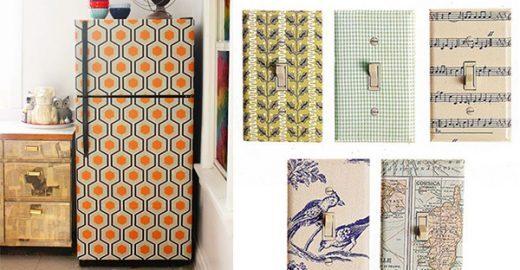 21 maneiras criativas de usar papel de parede (em outros lugares além da parede)