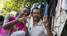 """""""The Street Store"""" é um projeto para doação de roupas, calçados e livros para moradores em situação de rua. Foto: Pedro Prates"""