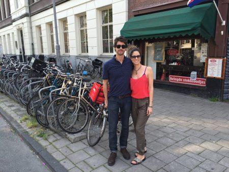 Chico e Fe em Amsterdã, primeira parada da viagem