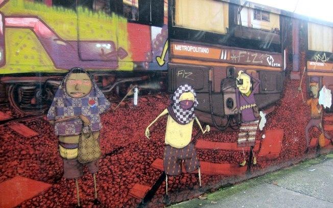 Graffiti Os Gêmeos (Foto: Flickr/ Wallyg)