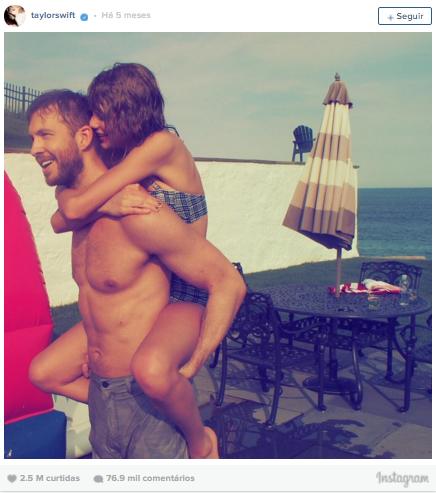3º lugar: Taylor Swift, mais de 2,5 milhões de likes