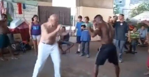 Eduardo Suplicy posta vídeo lutando boxe com morador de rua: 'deu empate'