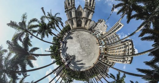 Fotógrafo transforma lugares de São Paulo em 'miniplanetas'