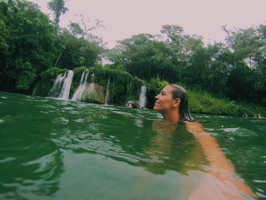 Ultima cachoeira que parei durante a trilha realizada na Estância Mimosa