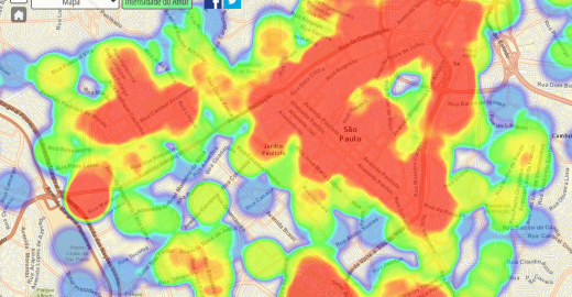 Mapa do amor em São Paulo