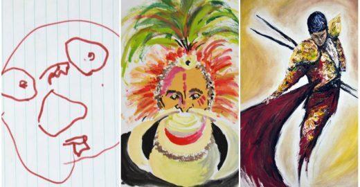 Artista mostra evolução de seus desenhos dos 3 aos 28 anos de idade