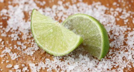 limão sal manchas