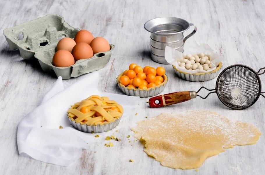 Ingredientes prontos para serem usados em uma receita