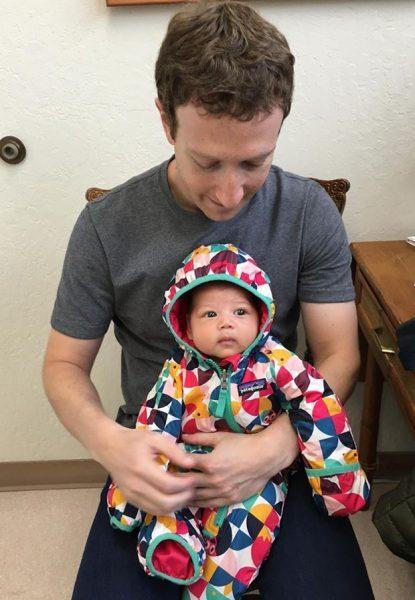 Mark Zuckerberg e sua filha (reprodução/Facebook/MarkZuckerberg)