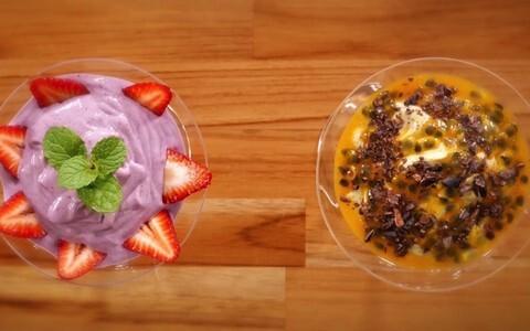 Mousse de maracujá e frutas vermelhas sem leite condensado nem creme de leite