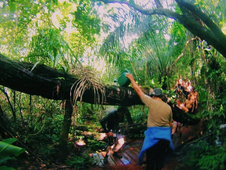 Trilha no Recanto Ecológico Rio da Prata