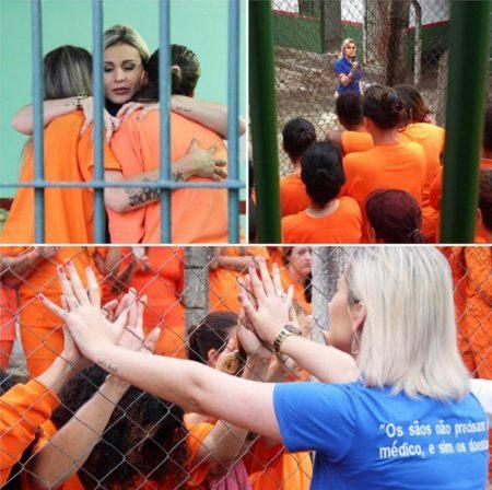 Andressa Urach dá palestras de motivação à prisioneiras