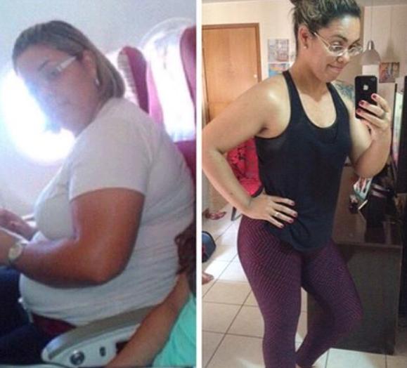 A ex-obesa mudou radicalmente de vida