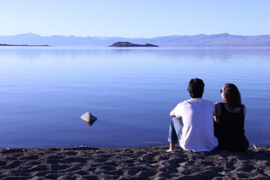 Eu e a Gabi em El Calafate, na Patagônia Argentina