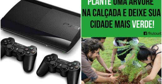 Homem leiloa videogame para ajudar projeto de plantio de árvores