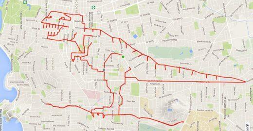 Ciclista desenha doodles gigantes ao redor do mundo com o GPS da bike