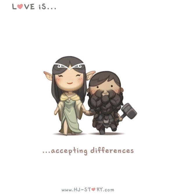 Amar é... aceitar as diferenças.