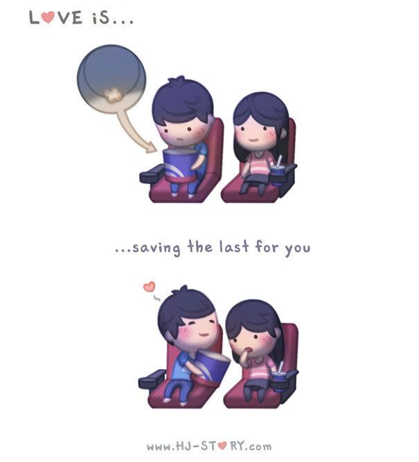 Amar é... guardar o último para você