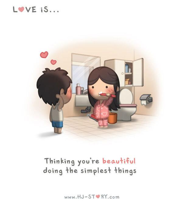 Amar é... achar que você é linda fazendo as coisas mais simples