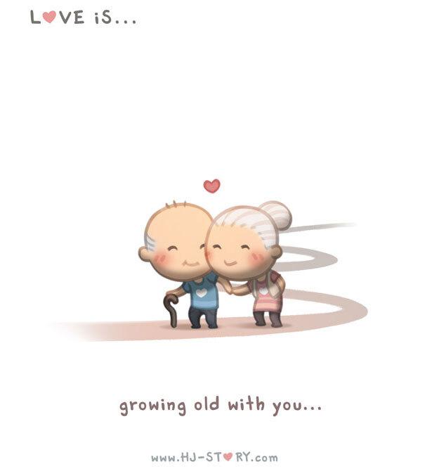 Amar é... ficar velho ao seu lado