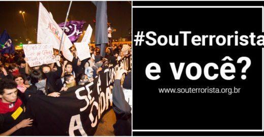 Movimentos sociais lançam petição contra 'lei antiterrorismo'