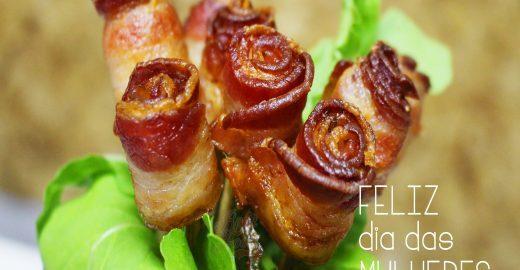 Feliz Dia das Mulheres: aprenda a fazer Rosas de Bacon