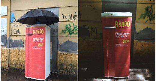 Geladeira oferece comida a moradores de rua em Porto Alegre