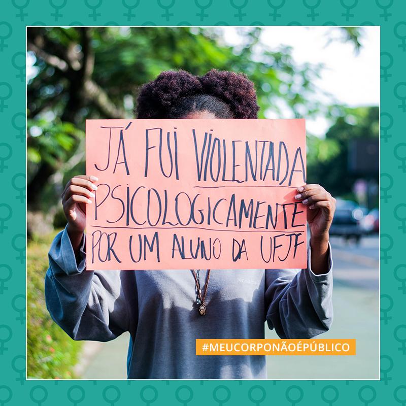 A campanha fez parte das ações durante a Semana da Mulher (Foto: Reprodução/UFJF)