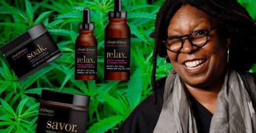 Whoopi Goldberg lança linha de produtos com maconha para cólicas menstruais