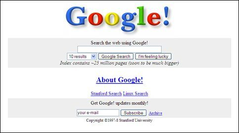Você sabe como eram os sites de empresas famosas nos anos 90?