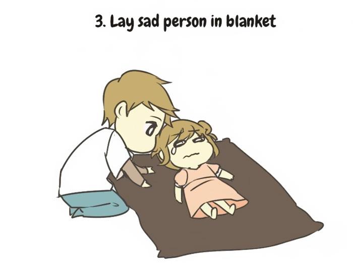 Ilustracoes Mostram Como Cuidar De Uma Pessoa Triste