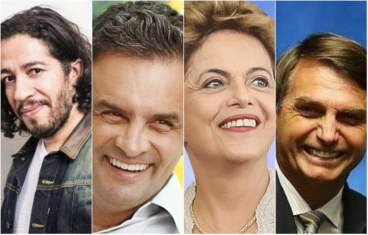 Jean Wyllys, Aécio Neves, Dilma Rousseff e Jair Bolsonaro estão entre os políticos mais seguidos no Facebook