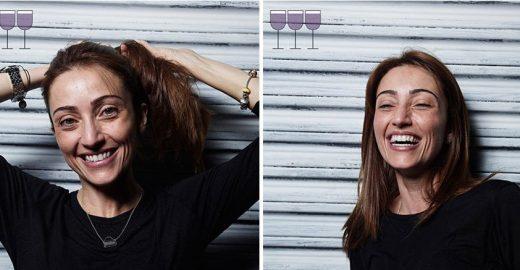 Fotos revelam o antes e depois de 3 taças de vinho