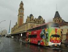 O ônibus passa por vários pontos turísticos da capial. Luiz Guadagnoli/SECOM
