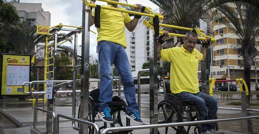 Rio ganha 10 praças de exercícios para pessoas com deficiência