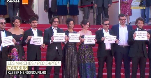 Sessão de 'Aquarius' em Cannes tem protesto contra governo Temer