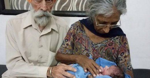 Indiana de 72 anos dá à luz ao primeiro filho