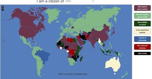 Aplicativo simplifica quais países exigem visto para brasileiros