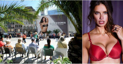 Outdoor com topmodel brasileira levanta polêmica na Alemanha