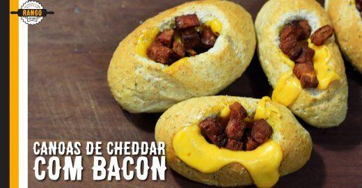 Rapidinha e deliciosa: canoas de cheddar com bacon
